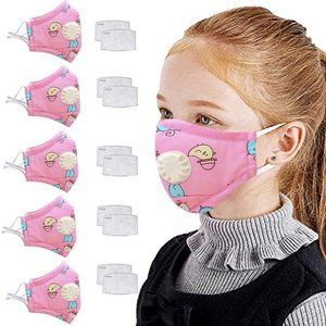 Kids 5 Piece Face Mask With Filter